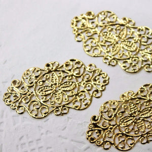 5pc Gold Filigree Stamping