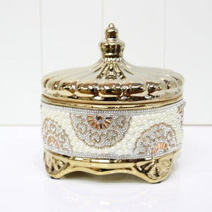 Gold Lolly/Trinket Jar with Lid