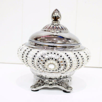Silver Embellished Lolly/Trinket Jar
