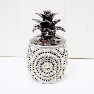 Rhinestone Embellished Pineapple Jar