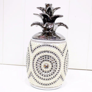 Porcelain Pineapple Cookie/Lolly Jar
