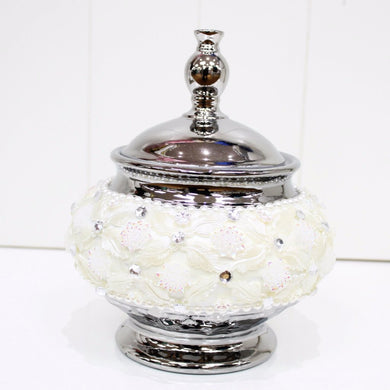 Porcelain Embellished Trinket/Lolly Jar