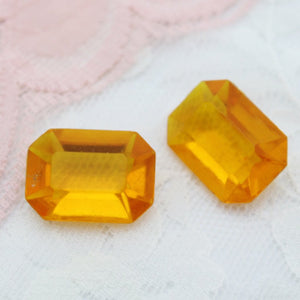 Vintage Plastic Point Back Octagons