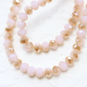 Pink Dual Coloured Crystal Rondelles