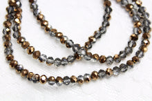 Bronze Dual Colour Crystal Rondelles