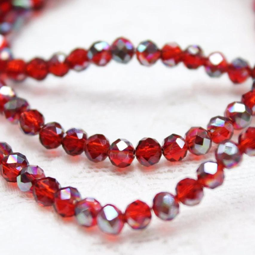 Red Crystal Rondelles
