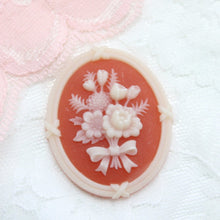 Vintage Lucite Floral Cameo