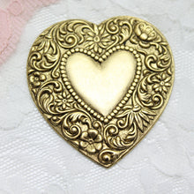Vintage USA Brass Heart