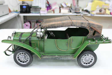 Vintage Style Metal Car - Green
