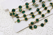 1M Emerald Glass Designer Linked Chain