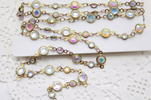 Aurora Borealis Glass Designer Linked Chain