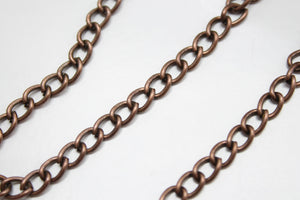 1 Metre Copper Chain 7x5mm
