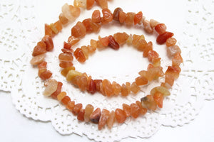 Red Agate Chip Bead Strand
