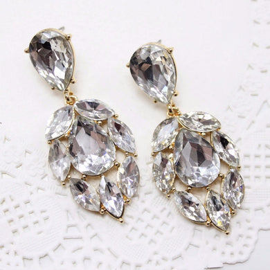 Diamante Rhinestone Earrings
