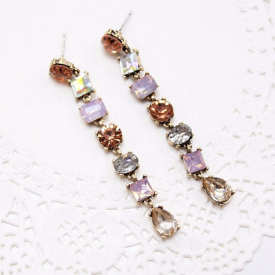 Multi Stone Dangle Earrings