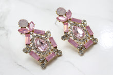 Pink Rhinestone Earrings