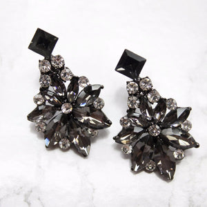 Sparkling Black Rhinestone Earrings