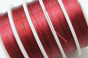 100m Red Tigertail Wire Roll