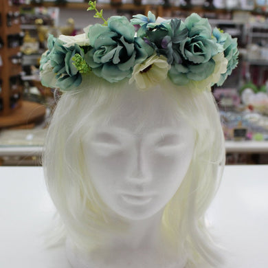 Blue and White Floral Hair Crown