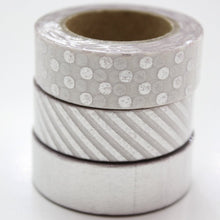 Silver Foil Washi Tape - Set of 3