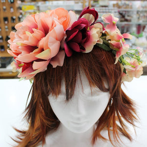 Huge Floral Statement Hair Crown