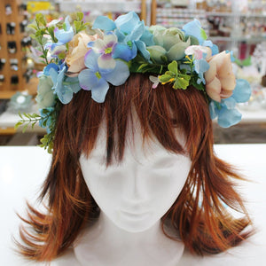 Vintage Colours Floral Hair Crown