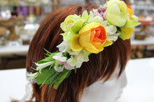 Yellow and Orange Floral Hair Crown