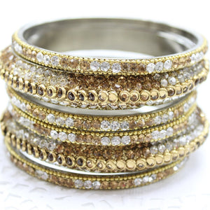 Rhinestone Bangle Set