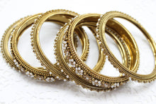 Pearl and Rhinestone Bangle Set
