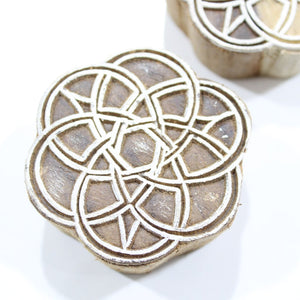 Celtic Hand Carved Indian Block Stamp