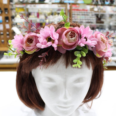 Pink Purple Floral Hair Crown