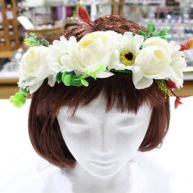 White Floral Hair Crown