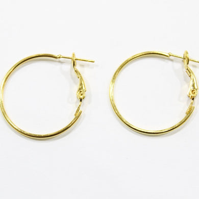 12pc Gold Earring Hoops