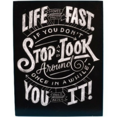 Life is Fast Metal Wall Art
