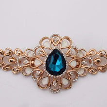 Beautiful Blue Rhinestone Bracelet