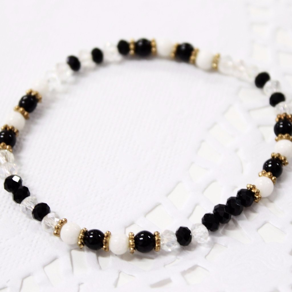 Black and White Crystal Bracelet