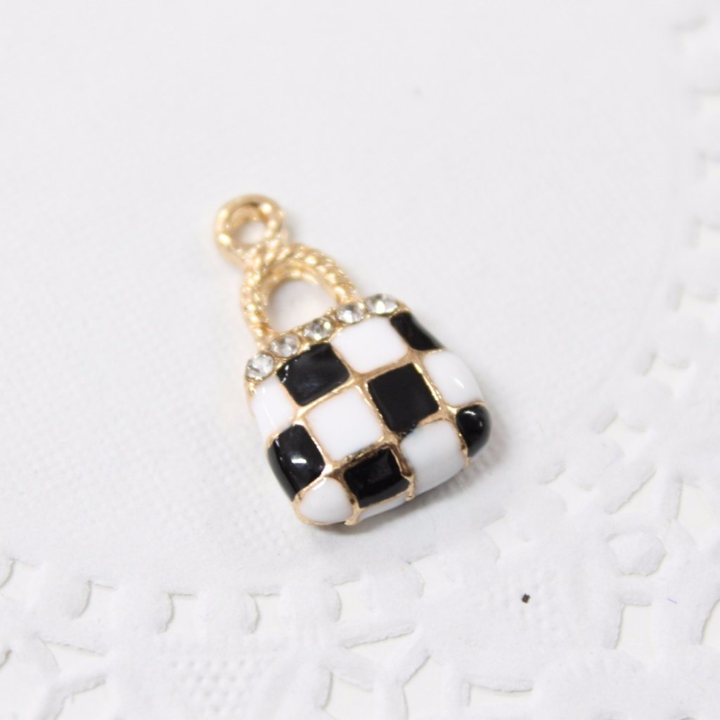 Black and White Hand Bag Charm