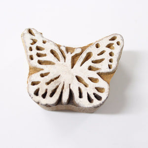 Butterfly Hand Carved Indian Block Stamp