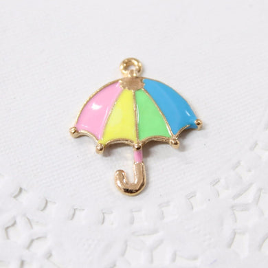 Colourful Umbrella Enamel Charm