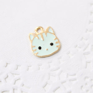 Cute Cat Enamel Charm