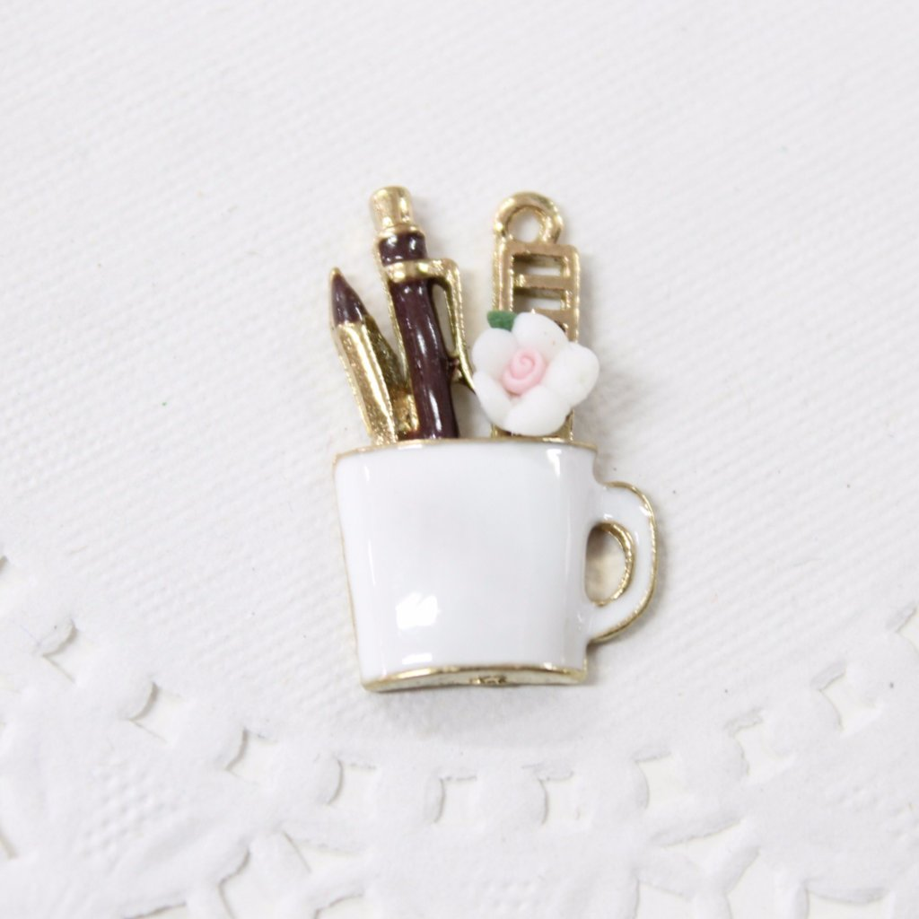 Cute Crafters Cup Enamel Charm