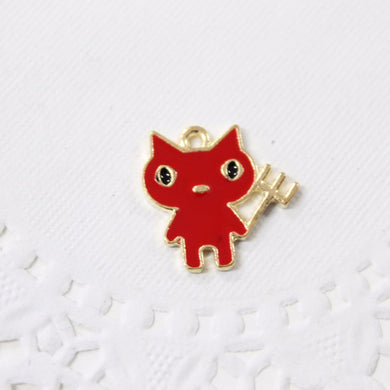 Cute Red Devil Enamel Charm