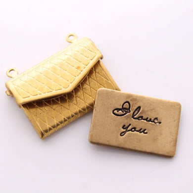 Double Sided Love Letter Envelope Charm