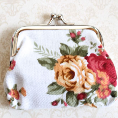 White Rose Coin Purse