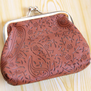 Brown Paisley Coin Purse