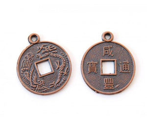 Dragon Copper Coin Pendant
