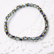 Electric Blue Crystal Bracelet