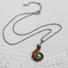 Dichroic Glass Koru Necklace