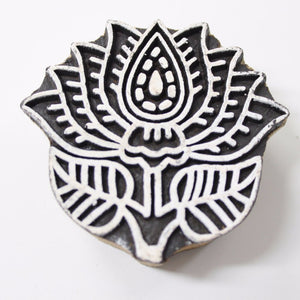 Flower Hand Carved Indian Block Stamp