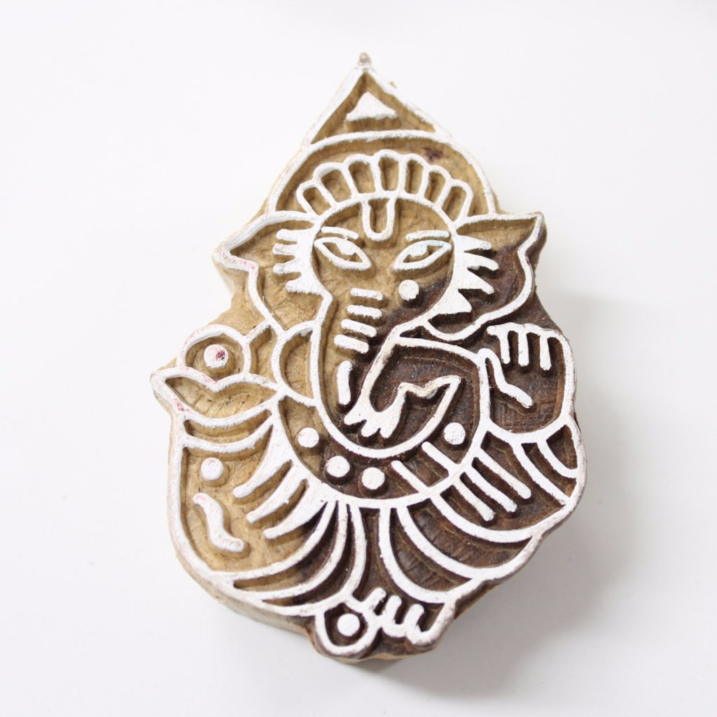 Ganesh Hand Carved Indian Block Stamp